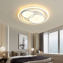 Round modern led ceiling chandelier for bedroom dining room light Hardware+Acrylic lighting avize lustre moderno