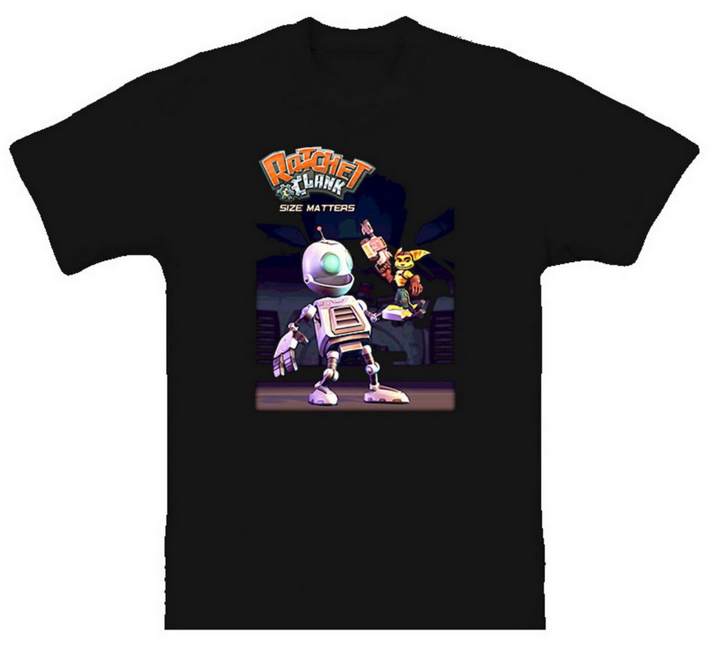 Ratchet Clank Size Matters Video Game T-Shirt Loose Plus Size TEE Shirt image