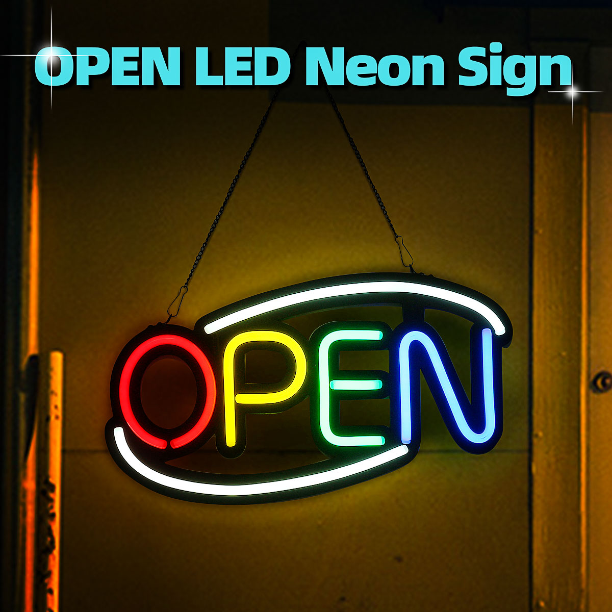 OPEN Neon Sign LED Light Tube Handmade Visual Artwork Cafe Bar Club KTV Wall Decoration Commercial Lighting Colorful Neon Bulbs image