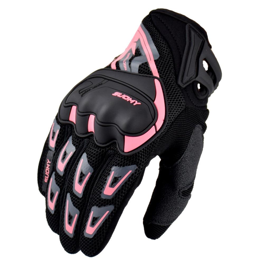Мотоциклетные Перчатки Suomy, летние сетчатые дышащие мотоциклетные перчатки с закрытыми пальцами для мужчин и женщин, перчатки для мотокрос...