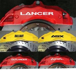 Paquímetro de freio premium, 4 peças para mitsubishi lancer ex outlander asx l200 competição HI-TEMP premium decalques adesivos fundido vinil