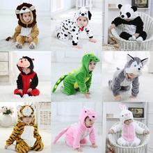 Umorden Infant Toddler Rabbit Dog Lion Tiger Dinosaur Costumes Baby Boys Girls Kigurumi Cartoon Animal Onesies Romper Halloween