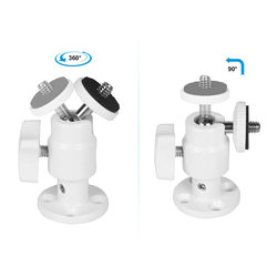 Kayulin Security Wall Mount With 1/4inch Male Mini Ball Head For CCTV Camera Surveillance System White
