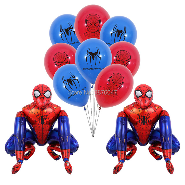 3d spiderman balloons kids boy super hero birthday spiderman party decorations happy birthday spider mask printed balloons
