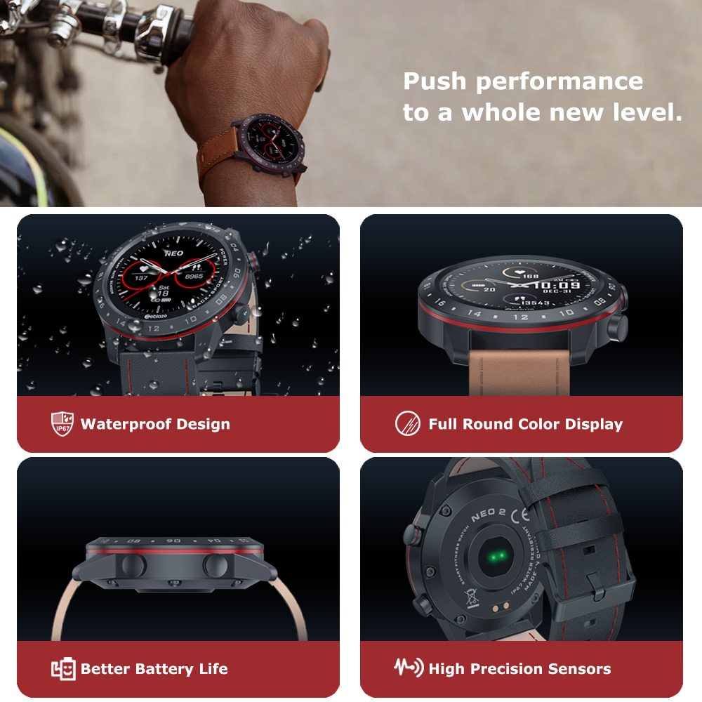 The New 2020 Zeblaze NEO 2 Smartwatch Health&Fitness Waterproof/Better Battery Life Classic Design Bluetooth 5.0 For Android/IOS 3