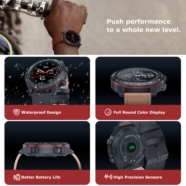 The New 2020 Zeblaze NEO 2 Smartwatch Health&Fitness Waterproof/Better Battery Life Classic Design Bluetooth 5.0 For Android/IOS 2