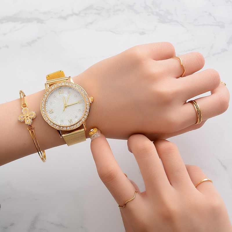 2019 mode luxe femmes montres décontracté diamant maille nouveau bracelet Quartz montre analogique montre-bracelet femmes montres Reloj Mujer