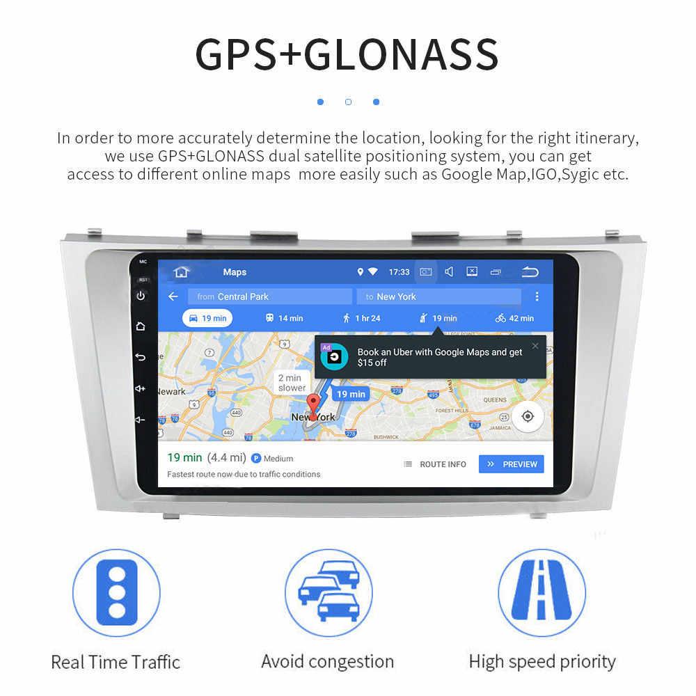 Android 9.1 2G + 32G samochodowy odtwarzacz multimedialny nawigacja gps z bluetooth radio odtwarzacz dla Toyota Camry 2006 2007 2008 2009 2010 2011