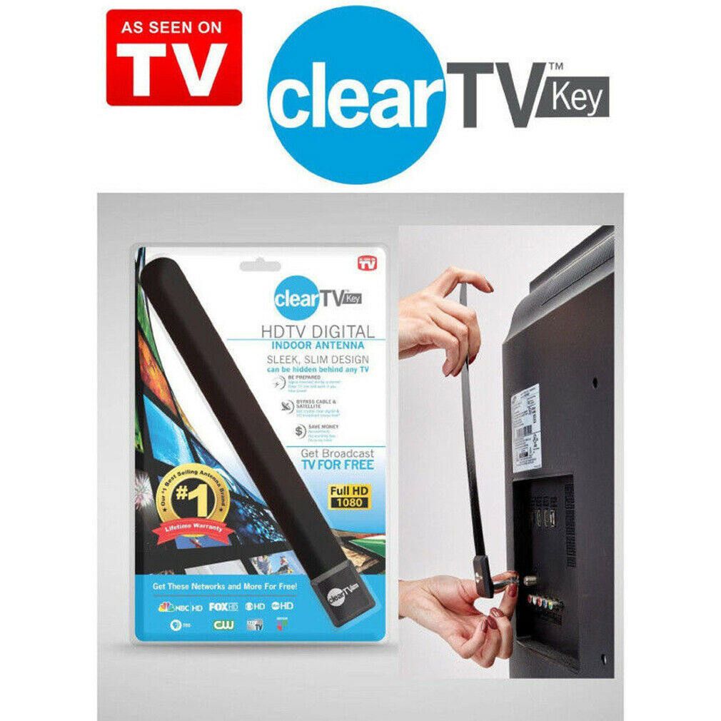 Mini Clearly TV Key HDTV 100+ FREE HD TV Digital Indoor Antenna Ditch Cable