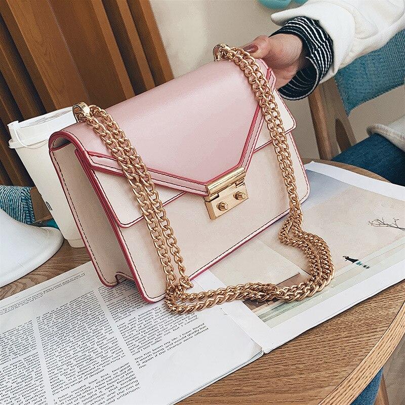 New Small Bag Female 2019 Shoulder Messenger Fashion Chain Wild Square Trend