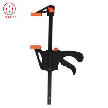 F Clamp Woodworking Bar Fast F Clamping Grip Ratchet Release Squeeze Carpentry Wood Trigger Clamps Hand Ratchet Bar Tool v drum rack clamp arm bar joint mounts t clamps 1 5 38mm for roland td
