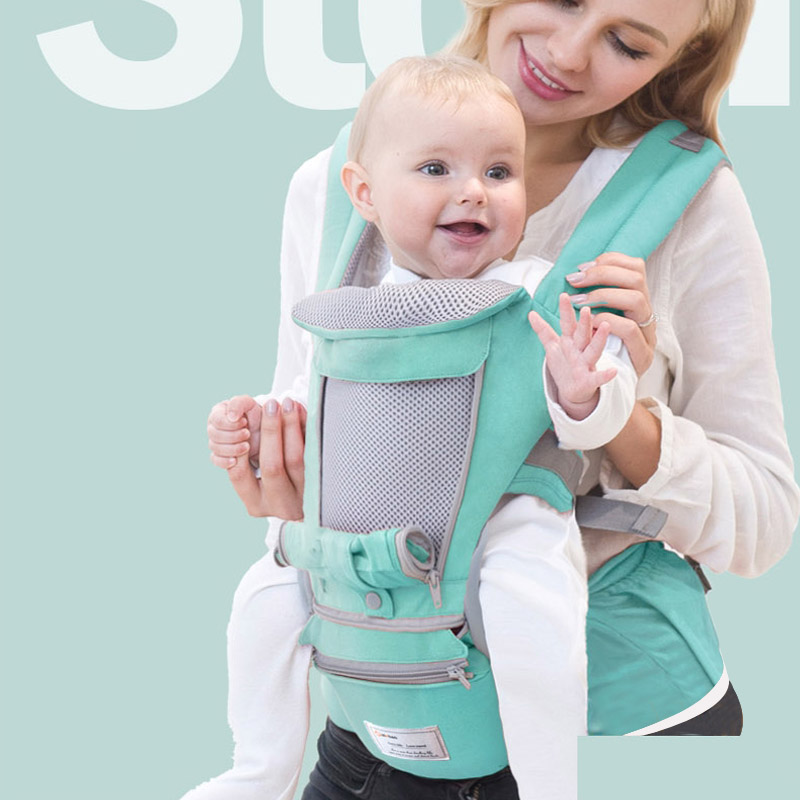 Ergonomic Baby Carrier Kangaroo Baby Sling Infant Kid Baby Hipseat Wrap Front Baby Carrier Facing for Travel 0 36Months|Backpacks & Carriers|   - AliExpress