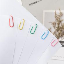 Металлические овальные Зажимы для бумаги цветные канцелярские