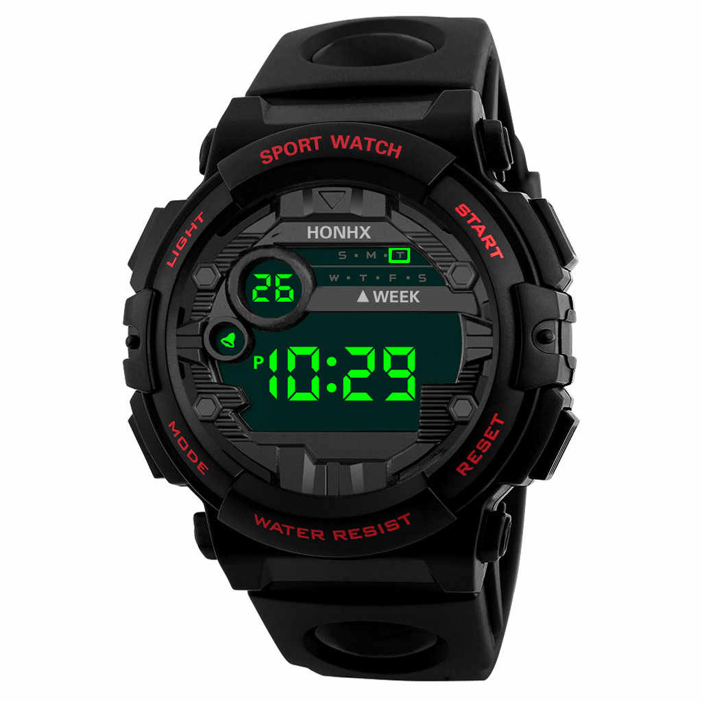 Luxe hommes numérique Led Montre Sport hommes en plein air Date montres électroniques étanche Montre-bracelet horloge mâle Montre Homme