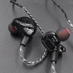 Image 5 - חדש KZ ZS3 1DD Hifi ספורט ב אוזן אוזניות דינמי נהג רעש ביטול אוזניות עם מיקרופון החלפת כבל AS10 BA10 ES4