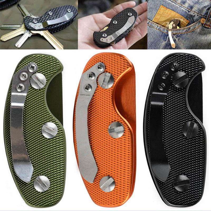 Travel Kits Aluminum Alloy Key Holder Outdoor EDC Housekeeper For Keys Pocket Gear Anti-slip Key Clip Storage Pouch Orga FC