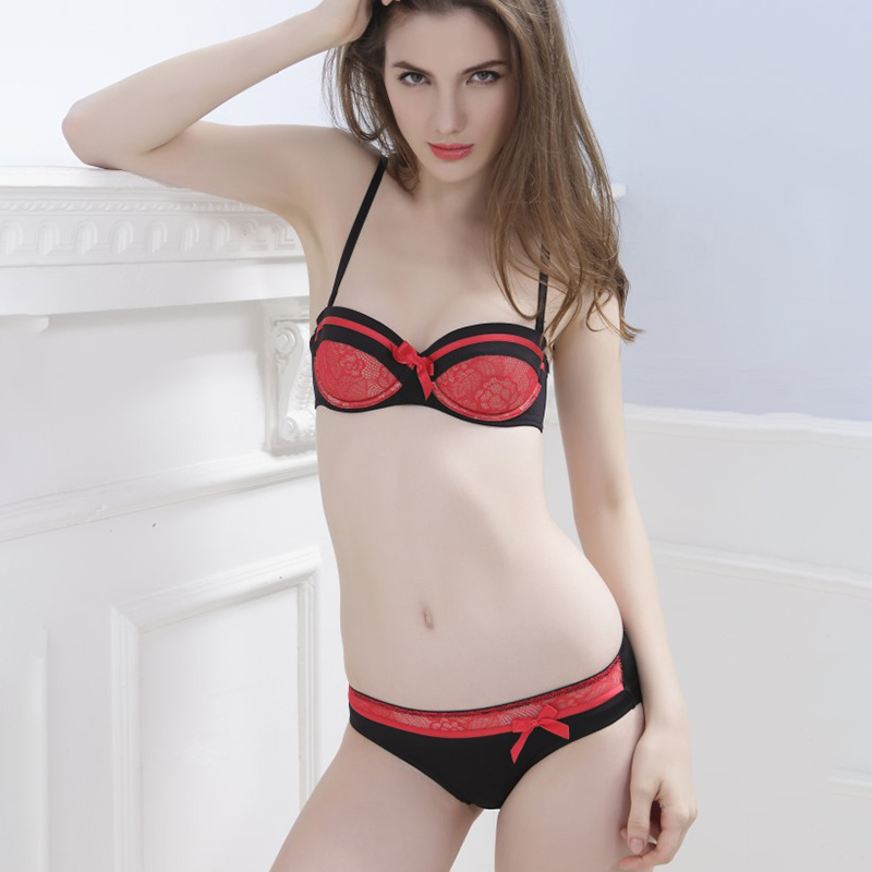2020 Lingeries Women's Underwear Ladies Bra And Panty Set Red Push Up  Seamles Sexy Panties Woman Lingerie Sets Plus Size 2