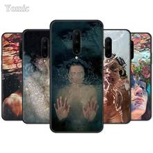 Silicone Case for Oneplus 7 Pro 6 6T 5T Black Capa 7Pro Mobile Phone Bag Cover Abstract Art Underwater Boy Girl