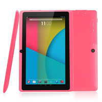 7 pulgadas Q88 Android 4.4.2 Allwinner A33 512GB/8GB 1024x600 Dual Camera Quad-Core procesador 1,2 GHz