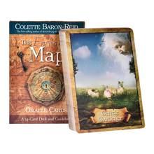 54 pçs a porta sagrada os encantos mapa oracle cards inglês misterioso tarô cartas adivinhação destino tarô deck jogo de tabuleiro mulher