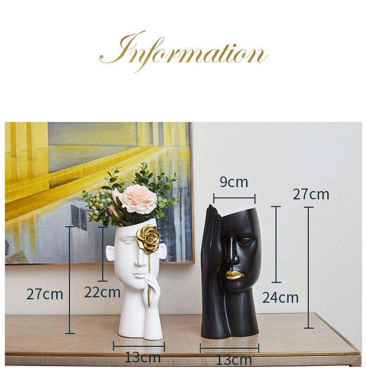 Minimalist Portrait Head Flower Vase - Home & Garden