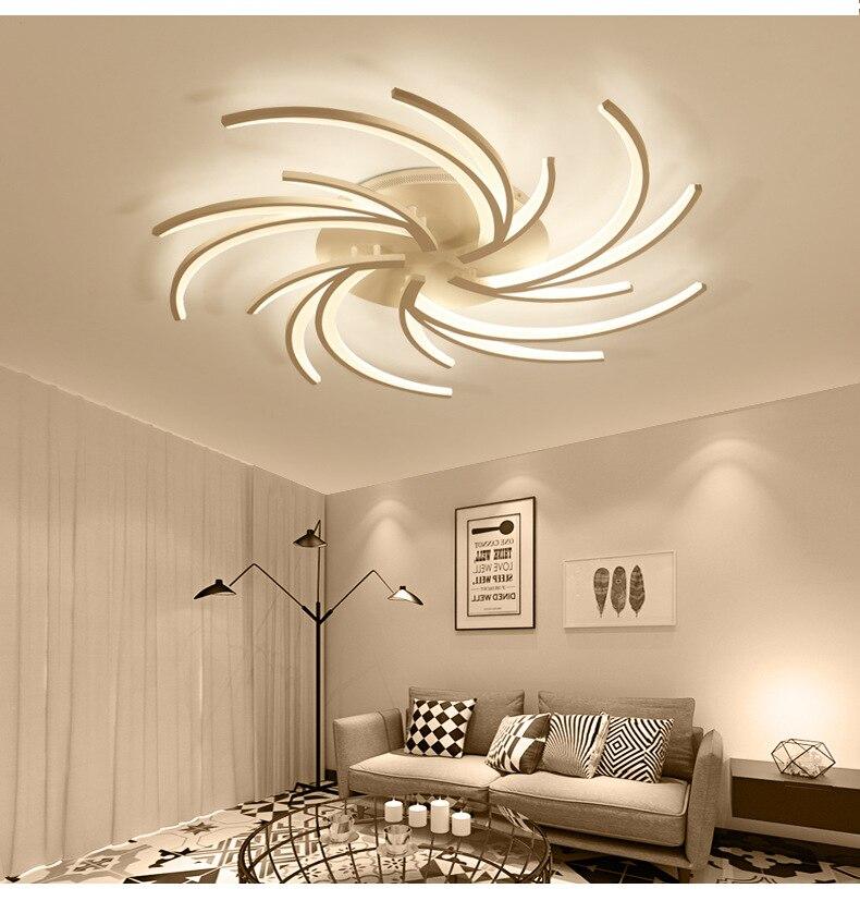 Lustre branco para decoração da casa, luminária