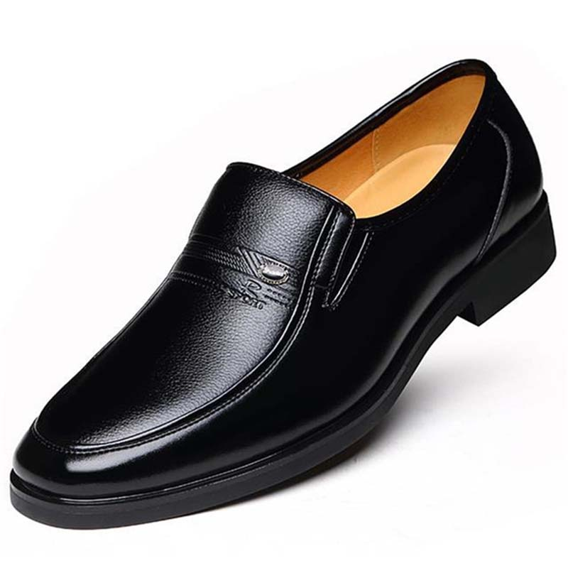 2020 New Summer Men Casual Leather Shoes Business Male Hollowed Out Shoes Solid Men Shoes Slip-on Round Toe Breathable