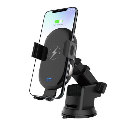 2 In 1 Mobile Phone Stand Car Holder Smartphone Wireless  Fast Charging Scrubs Touch Sensing Bracket Mount Car Accessories Karachi