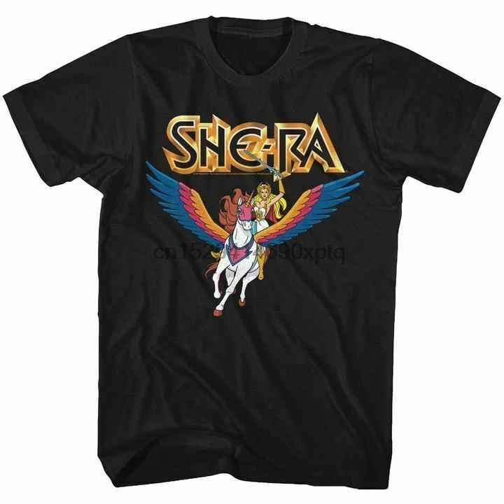 Masters Of The Universe Mens Manica Corta T-Shirt Nera Shera Swiftwind Tee