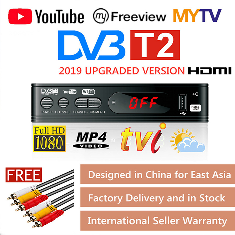 HD 1080p Tv Tuner Dvb T2 Vga TV  Dvb-t2 For Monitor Adapter USB2.0 Tuner Receiver Satellite Decoder Dvbt2 Russian Manual