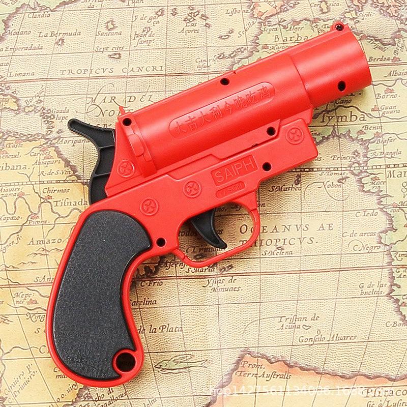 Simulação menino brinquedo pistola pode lançar bombas de água à mão verão ao ar livre água jogar brinquedo jedi sobrevivência airdrop flare gun
