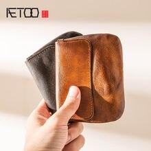 Кожаная сумка для водительских прав aetoo винтажный кошелек