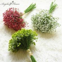 Night scent 30cm artificial baby breath flower gypsophila plastic flower plants home hotel Christmas decor wedding bouquet gift