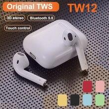 Oryginalny i12 TWS Stereo bezprzewodowy zestaw słuchawkowy Bluetooth słuchawki z etui z funkcją ładowania dla inteligentnego telefonu