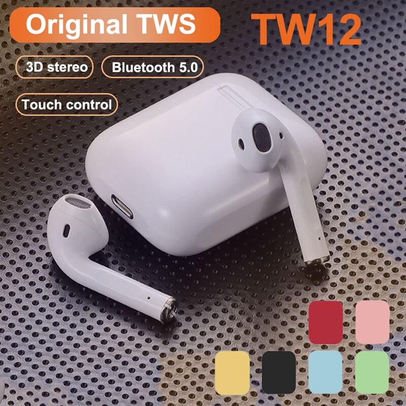 Оригинальные Беспроводные стереонаушники i12 TWS с Bluetooth, наушники-вкладыши, гарнитура с зарядным боксом для смартфона