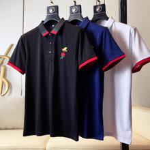 2020 High Quality Solid Top Tees Polo Shirts Business Men Brands 3d Embroidery Mens Shirt Cotton Brand Clothing Camisa Jerseys