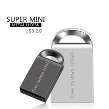 Usb Stick 128gb Super mini 8gb Flash memory stick 64gb Pendrive 128gb Pen Drive 16gb Metal USB Flash Drive 32gb Free custom LOGO цена 2017