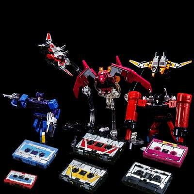 G1 THF трансформер звуковая волна шесть лент войск-Mindwipe Румяна Frenzy Ravage Laserbeak Buzzsaw Limit KO фигурка Робот Игрушки