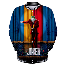 Мужская бейсбольная куртка в стиле хип-хоп с 3D принтом Джокер, Мужская и Женская бейсбольная форма с 3d принтом, женская зимняя спортивная куртка