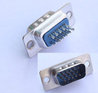 DHL/EMS 500 pcs PC D Sub 15 PIN Female Sockets Solda Connector A8|null| |  -