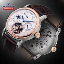 Мужские часы с Чайкой tourbillon механические датой дня месяца