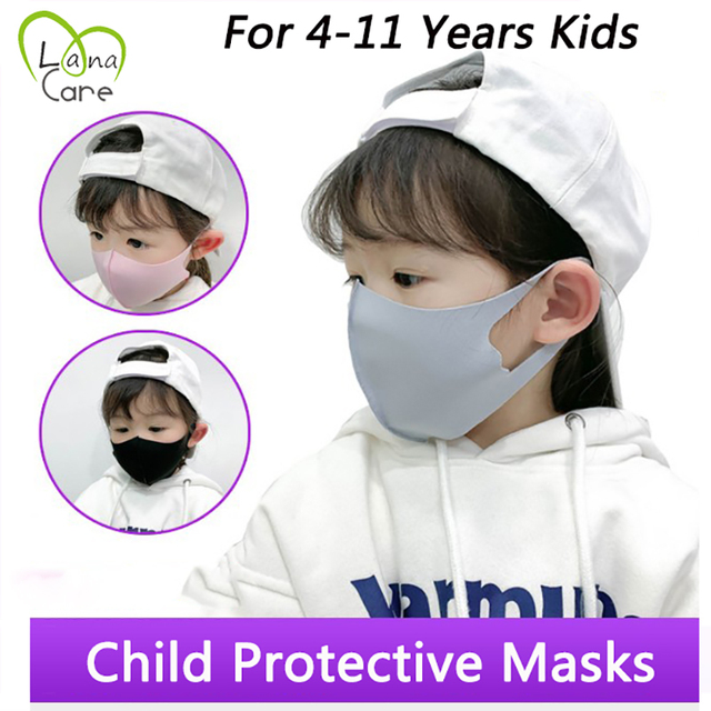 5Pcs/lot For 4-11 Years Kids Children Mouth Mask proof Pollution Mask PM2.5 Air Dust Face Masks Washable & Reusable Mouth Cover 1