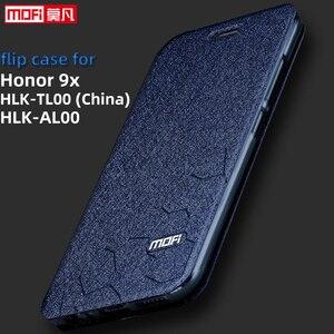 Image 1 - Caso di vibrazione per Huawei Honor caso di 9X HLK AL00 Honor 9X della copertura da 6.59 pollici CPU Kirin 810 posteriore del cuoio mofi del silicone libro di scintillio di lusso