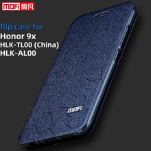 Флип чехол для huawei honor 9x, чехол HLK AL00 honor 9x, чехол 6,59 дюймов, процессор kirin 810, кожаный чехол, mofi, силиконовая книга, блестящая роскошь