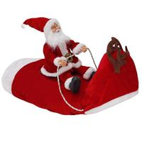 Christmas Dog Cloth Santa Claus Riding Deer Dress Up Costume Prop Pet Decor Dog Clothing Halloween Costume Kitten Puppy Supplie