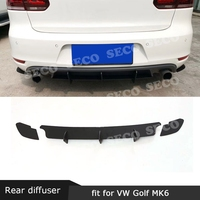 For Volkswagen VW Golf 6 VII MK6 GTI R20 Fins Shark Style ABS Rear Bumper Lip Diffuser Trim Cover Car Styling