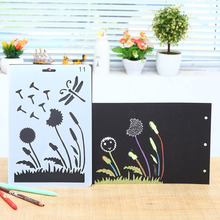 Stencil Flower Dandelion Engraving For Drawing Stencils Template Scrapbooking Painting Photo Album Decor Embossing Paper Card cup coffee flower sticker painting stencils for diy scrapbooking stamps home decor paper card template decoration album crafts