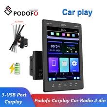 Podofo – Autoradio stéréo Bluetooth, lecteur vidéo multimédia universel, interconnexion de téléphone portable, 2 Din