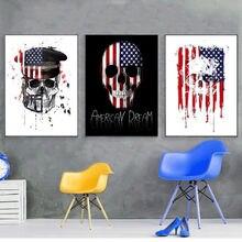 Стильная картина morderm с американским флагом Картина на холсте