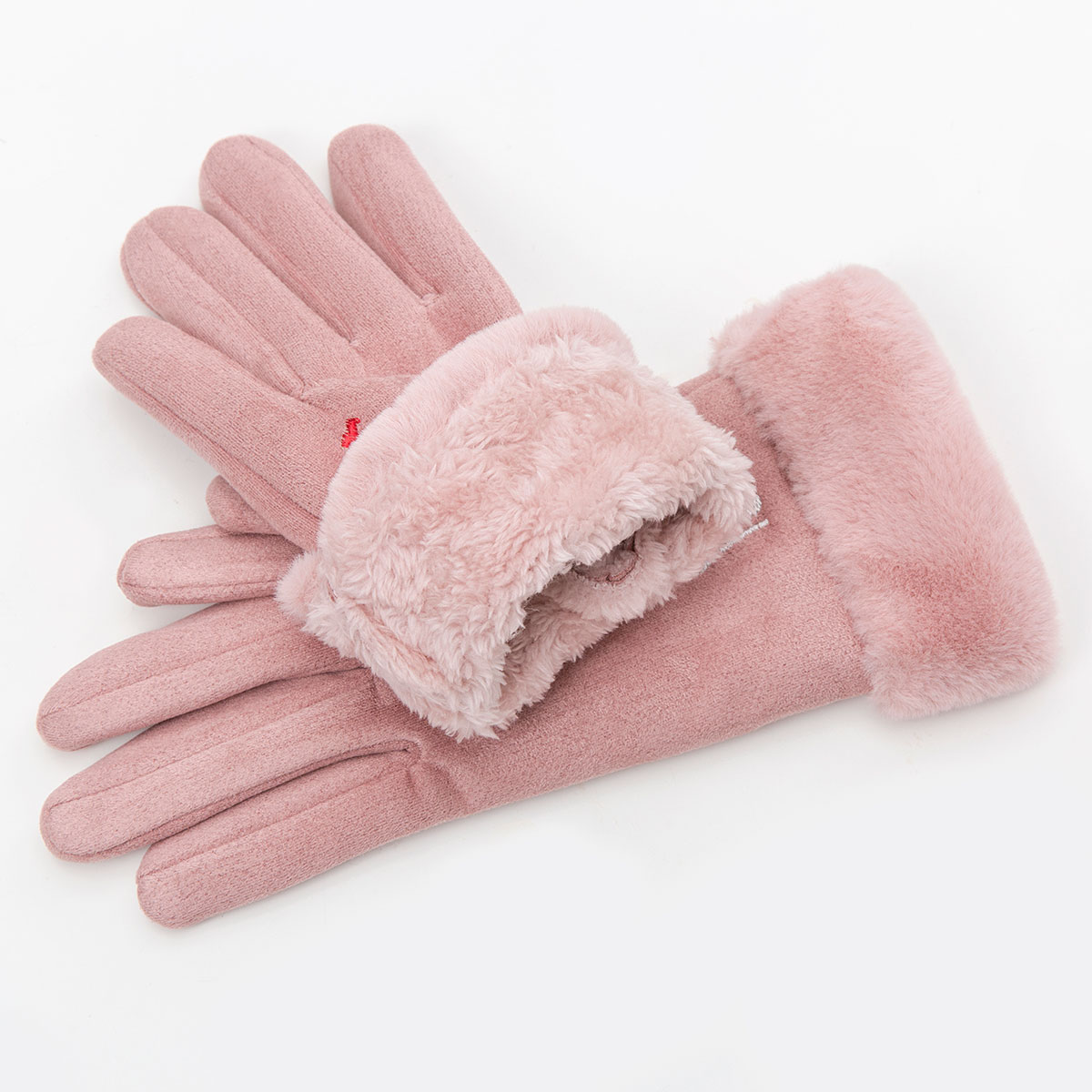 Winter Women Touch Screen Gloves with Embroidery made with a Special Conductive Fabric into Finger Tips for fast Navigation of All Touch Screen Device 2